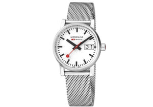 Mondaine, Watch, MSE.30210.SM 30mm, Stainless Steel Mesh Strap