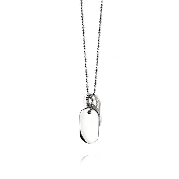 Fred Bennett, N2686, Double Oval ID Dog Tag, Pendant, Stainless Steel, Gent Jewellery