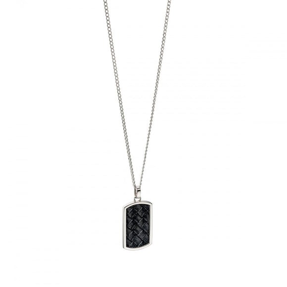 Fred Bennett, N4001, The Maverick, Leather Tag, Stainless Steel, Gents, Pendant, Necklace