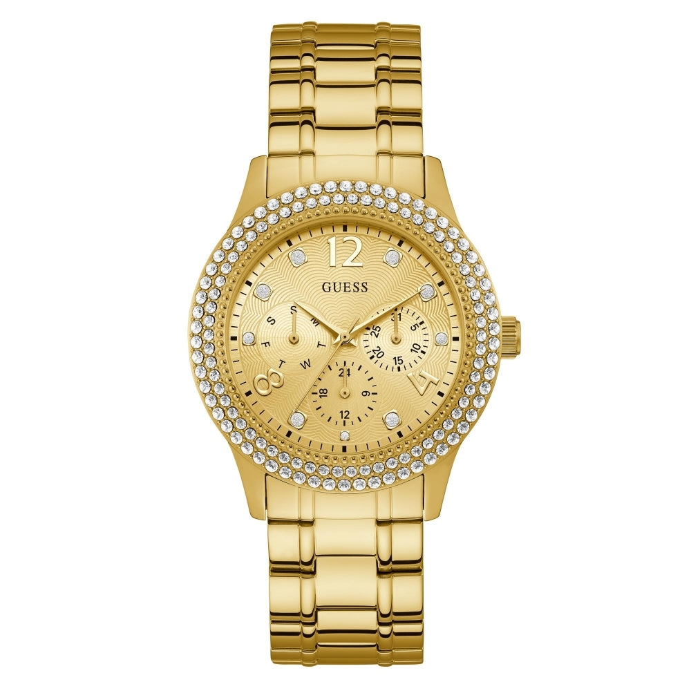 Guess, W1070L2, Bedazzle, Ladies, Gold, Watch