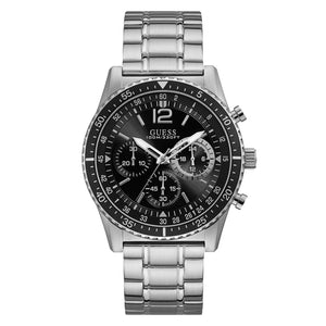 Guess, W1106G1, Launch, Gents, Chronograph, Black Dial, Watch