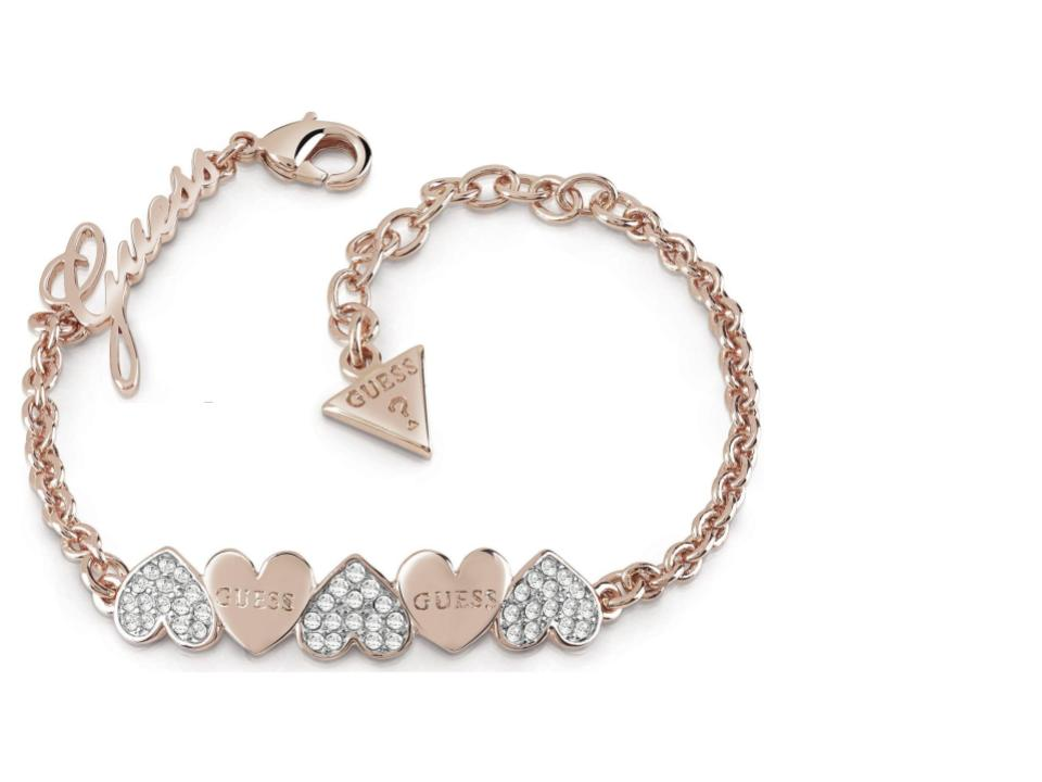 Guess Jewellery Ladies\' Rose Gold Plated Heart Bouquet Bracelet – DC ...
