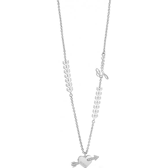 Guess Jewellery, UBN85031, Cupid Necklace Ladies' Silver Plated, Pendant