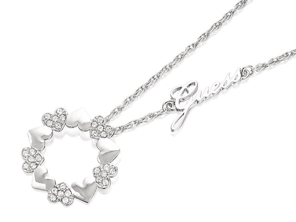 Guess Jewellery, UBN85046, Heart Bouquet, Ladies', Silver  Necklace, Pendant