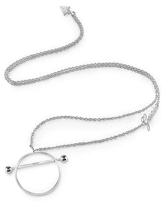 Guess Jewellery, UBN85037, Influncer, Ladies' Silver Plated, Necklace, Pendant