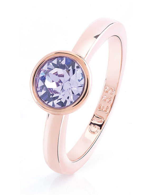 Guess Miami Lavendar Crystal Ring
