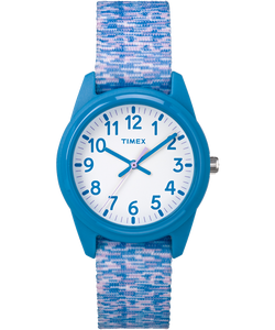 Timex, Time Matchine, Kids Analog Blue/Purple Space Dye Nylon Watch