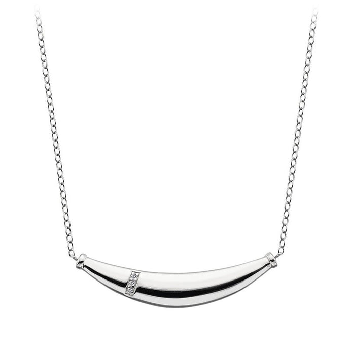 Hot Diamonds,DN110, Belle, Bar,Sterling Silver, Diamond, Pendent