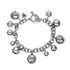 GUess Jewellery UBB80812 Spheric Charms, Silver, Bracelet
