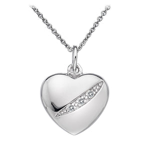 Hot Diamonds DP398, Shooting Starts, Heart, Diamond, Pendant, Necklace