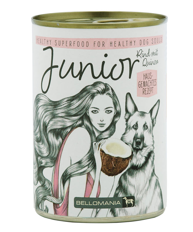 BELLOMANIA SUPERFOOD Junior Rind mit Quinoa, Olivenöl & Kokos