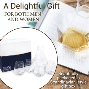 Diamant 5 Piece Box Set - Carafe with 4 Drinking Glasses