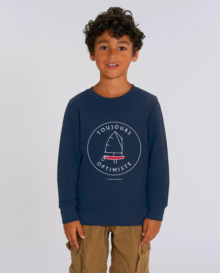 Toujours Optimiste, le sweat-shirt enfant en coton bio