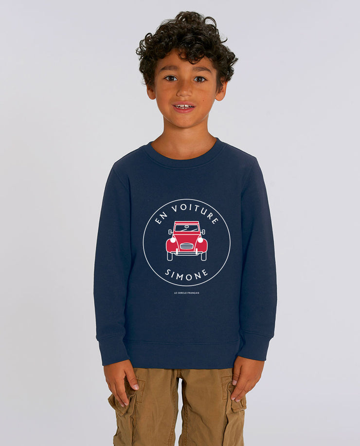 En voiture Simone sweat-shirt enfant en coton bio
