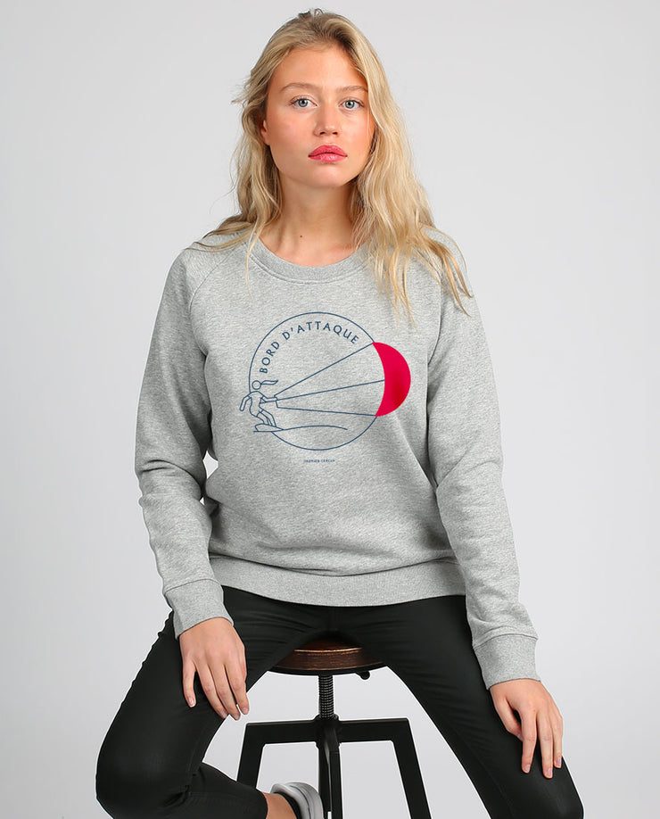 Bord d'attaque sweat-shirt femme en coton bio