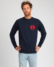 Ancre écusson sweat-shirt homme velours en coton bio