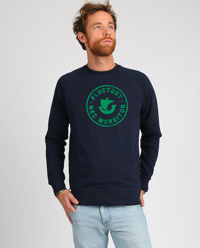 Fluctuat Nec Mergitur sweat-shirt homme en coton bio et velours