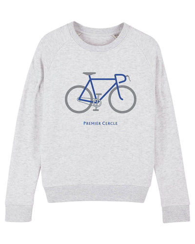 Vélo de course sweat-shirt Femme en coton bio