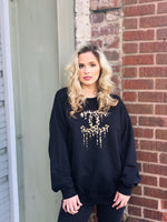 Big City Style BLACK Leopard Sweatshirt
