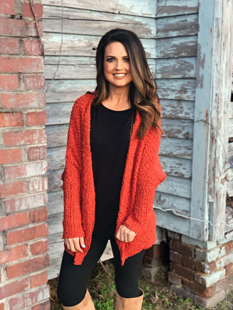 BLACK FRIDAY Popcorn Cardigan Aged Spice