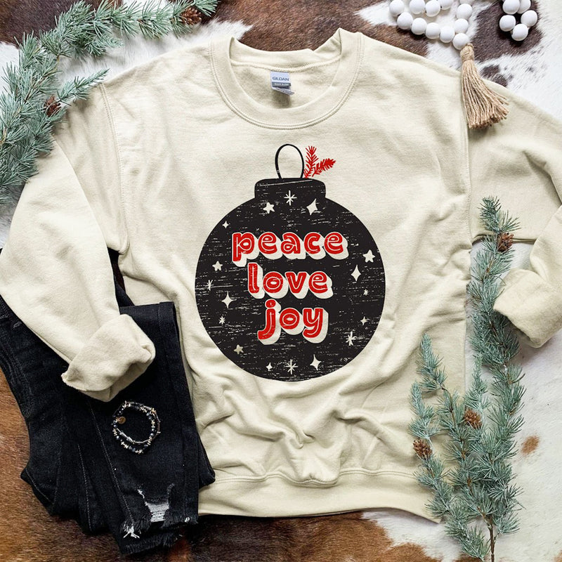 Peace Love Joy Sweatshirt In-Stock