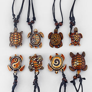 8 Pic Mixed Turtle Pendants Necklace
