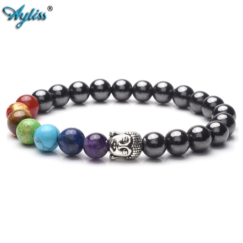 New 7 Chakra Hematite Meditiation Bracelet