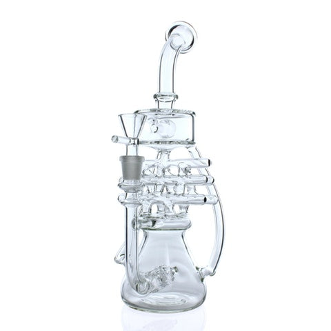 Twin Stereo Perc Lattice Recycler Water Pipe