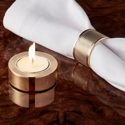 Gold-Plated Tea Light Holder