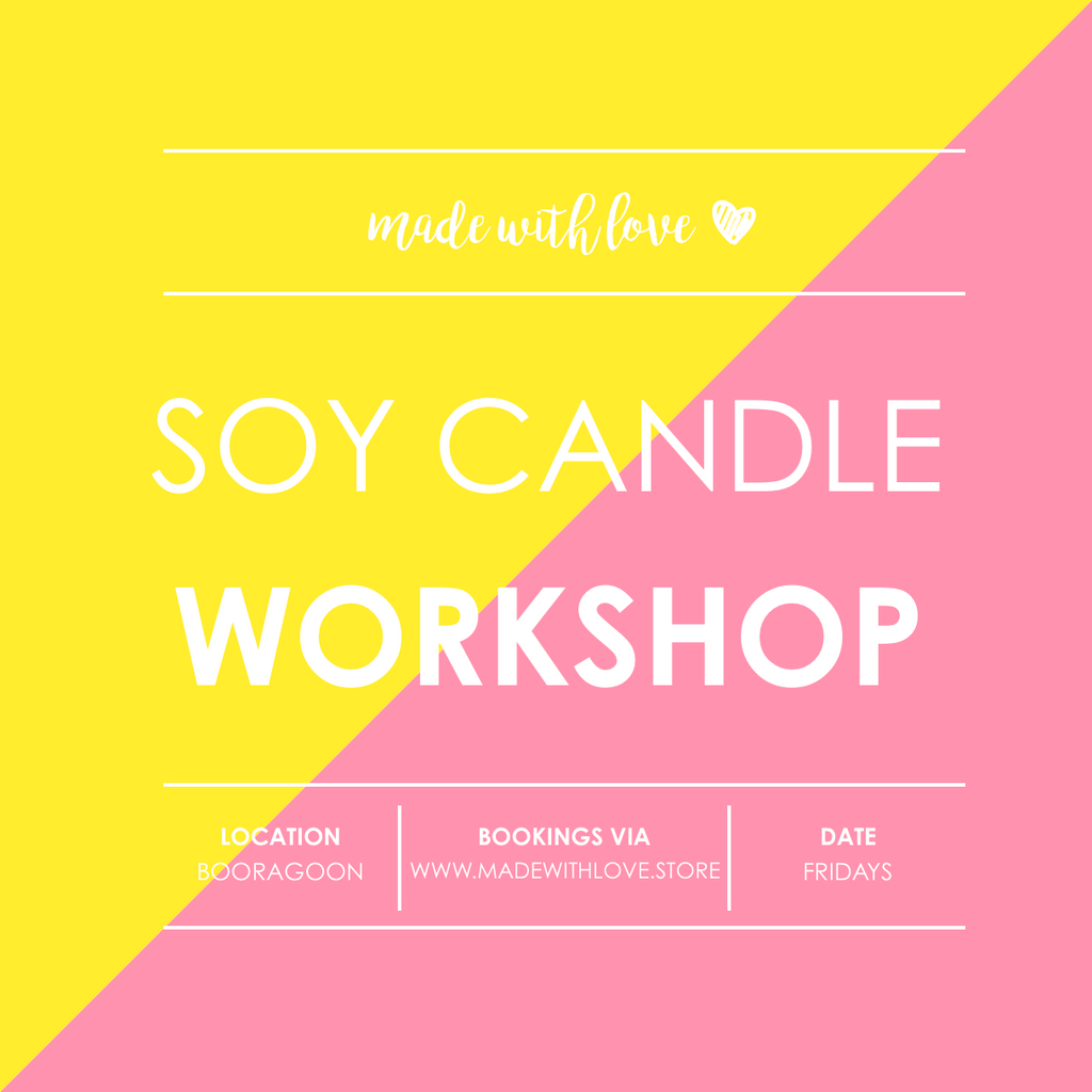 Workshop // Soy Candles & Room Spray // Fri 5.7.2019 6.30pm