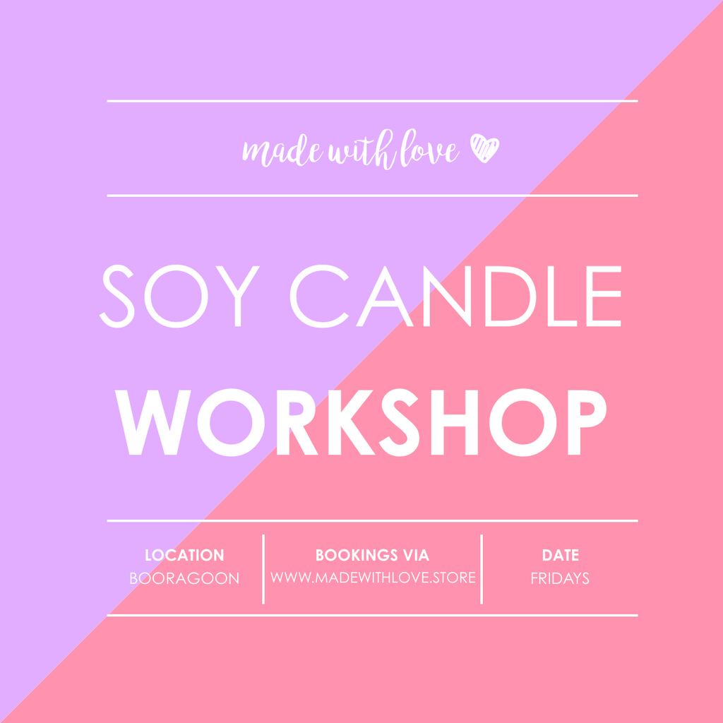 Workshop // Soy Candles & Room Spray // Fri 15.03.2019 6.30pm