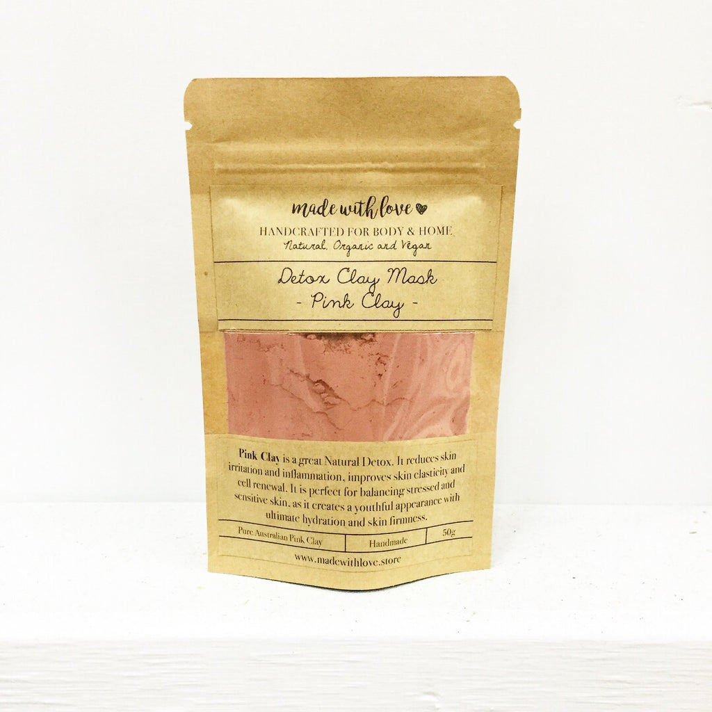 Detox Clay Mask 'Pink Clay' 50g Pouch