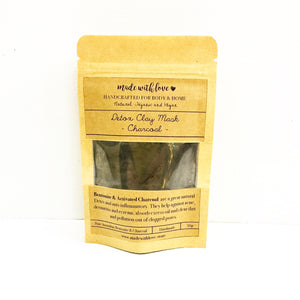 Detox Clay Mask 'Charcoal' 50g Pouch