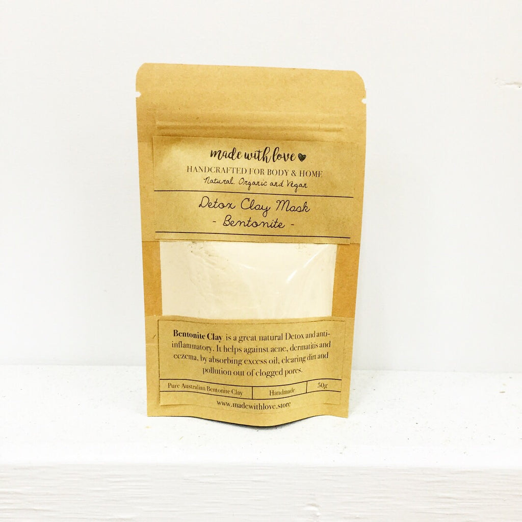 Detox Clay Mask 'Bentonite' 50g Pouch