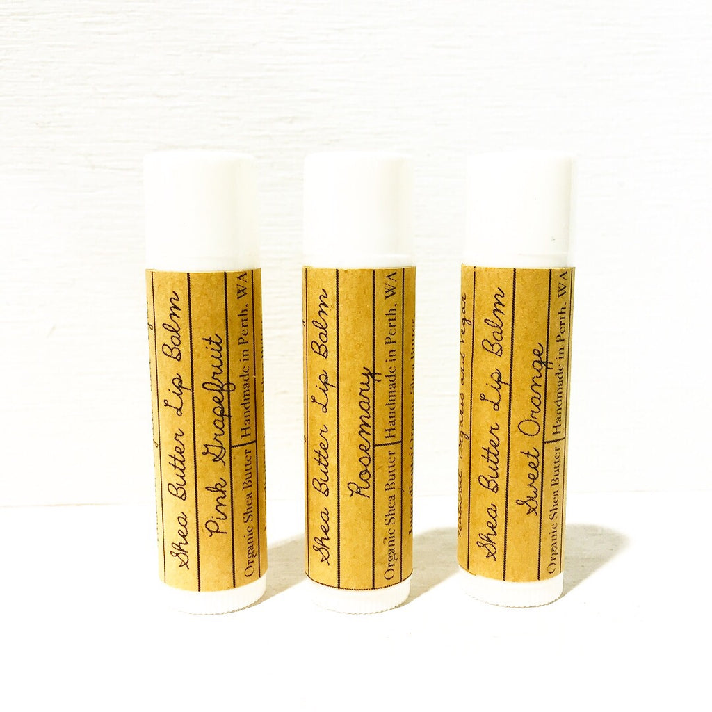 Shea Butter Lip Balms with Essential Oils