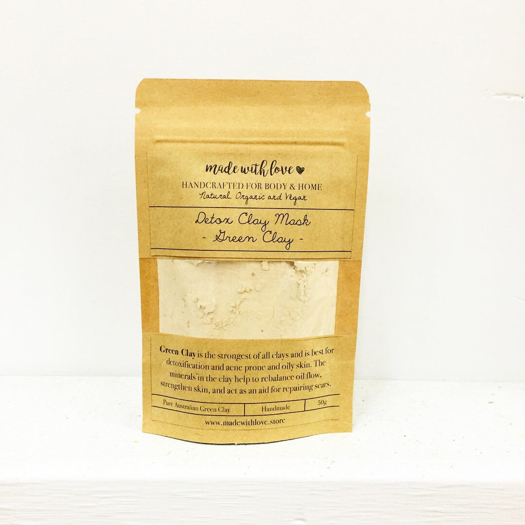 Detox Clay Mask 'Green Clay' 50g Pouch