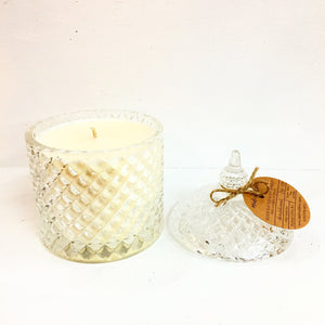 Soy Candles in Crystal Glassware