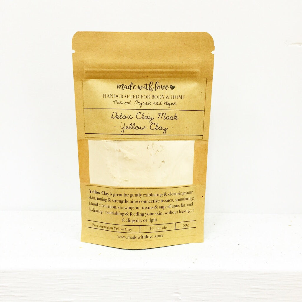 Detox Clay Mask 'Yellow Clay' 50g Pouch