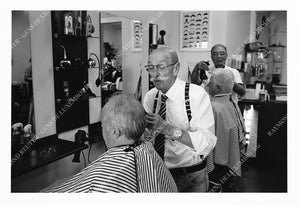"Photographie "" Salon de coiffure ""Moustache"" à Remich "" Tirage original 1/10"