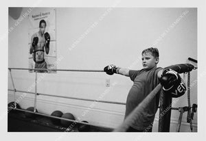 "Photographie "" Club de boxe à Rumelange "" Tirage original 1/10"