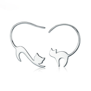 Purrdy - Silver Earrings - Bahia Investments