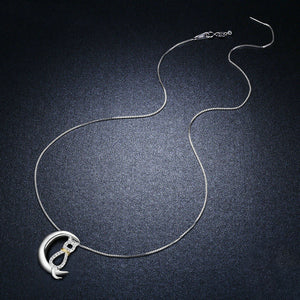 Moon - Silver Necklace - La-tonnelle-bormes