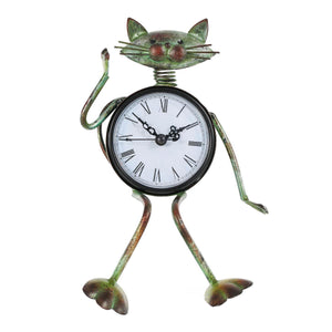 Sitting Cat - Iron Clock - Conscientnetworks