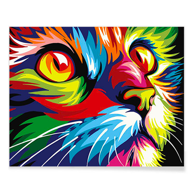 Colorful Cat - DIY Paint By Numbers - Conscientnetworks