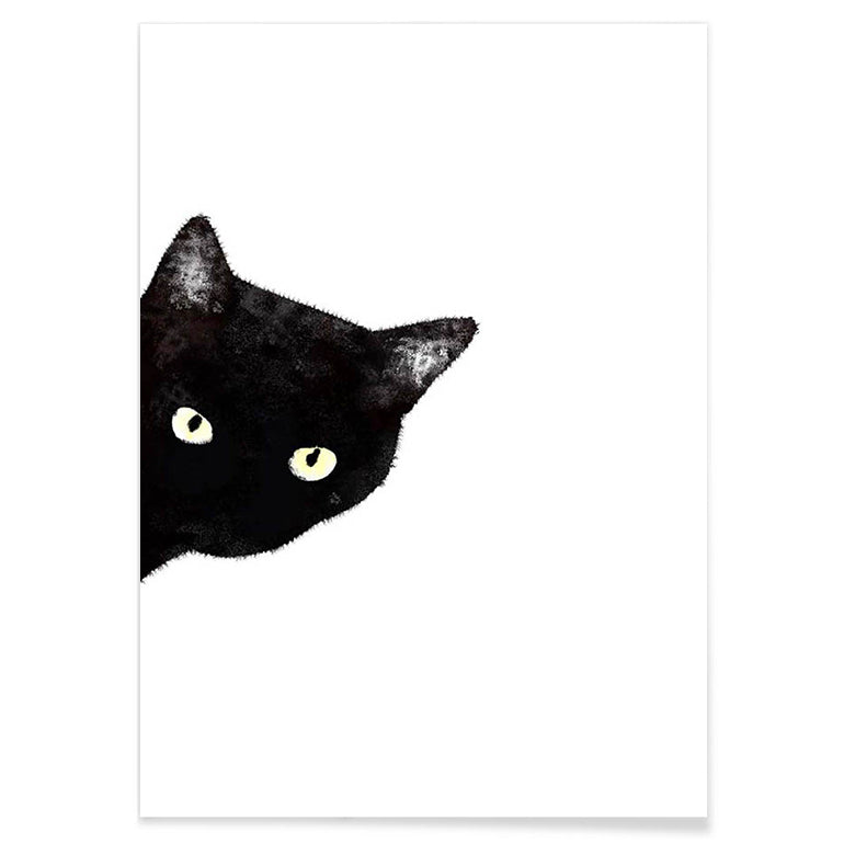 Black Cat - Canvas Print - Conscientnetworks
