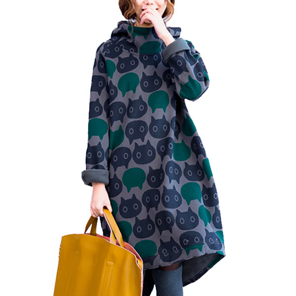 Cat Cape - Hoodie Dress - Conscientnetworks