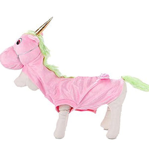 PetBoBo Pet Dog Cat Unicorn Halloween Party Fancy Tidy Costume for Dog Cat Jacket Apparel Unicorn S