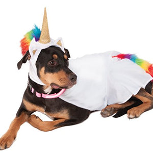 Rubies Costume Unicorn Cape with Hood and Light-Up Collar Pet Costume, XXX-Large