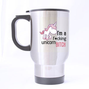 I'm a Fucking Unicorn- Funny Travel Mug 14oz Coffee Mugs or Tea Cup Cool Birthday/christmas Gifts for Men,women,him,boys and Girls