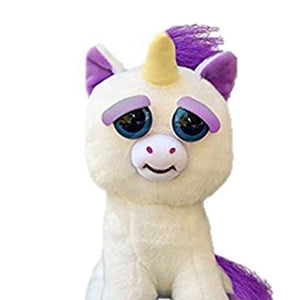 "Feisty Pets: Glenda Glitterpoop the Unicorn - Goes from ""Awww"" to ""Ahhh!"" with a Squeeze"